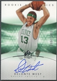 2004/05 SP Authentic #164 Delonte West Rookie Auto /1499
