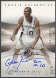 2004/05 SP Authentic #165 Romain Sato Rookie Auto /1499