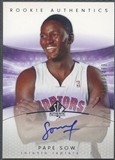 2004/05 SP Authentic #143 Pape Sow Rookie Auto /1499