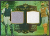 2006 Upper Deck Epic #FB Carlton Fisk & Johnny Bench Pairings Jersey #42/99