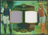 2006 Upper Deck Epic #FB Carlton Fisk & Johnny Bench Pairings Jersey #83/99