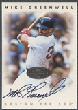 1996 Leaf Signature #84 Mike Greenwell Silver Auto