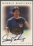 1996 Leaf Signature #145 Dennis Martinez Gold Auto