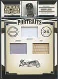 2005 Prime Patches #1 Andruw Jones Portraits Triple Swatch Bat Jersey #035/129