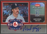 2006 Greats of the Game #WB Wade Boggs Red Sox Greats Auto #09/30