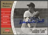 "2006 Greats of the Game #SM Sam McDowell Nickname Greats Auto ""Sudden Sam"""