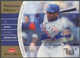 "2006 Greats of the Game #TR Tim Raines Nickname Greats Auto ""Rock"""