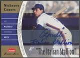 "2006 Greats of the Game #LM Lee Mazzilli Nickname Greats Auto ""The Italian Stallion"""