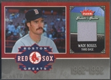 2006 Greats of the Game #WB Wade Boggs Red Sox Greats Memorabilia Pants