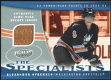 2006/07 Upper Deck Power Play Specialists Jerseys #SAO Alexander Ovechkin
