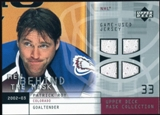 2002/03 Upper Deck UD Mask Collection Behind the Mask #BMPR Patrick Roy