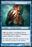 Magic the Gathering Theros Single Crackling Triton UNPLAYED