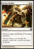 Magic the Gathering Theros Single Divine Verdict UNPLAYED