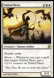 Magic the Gathering Theros Single Fabled Hero Foil - NEAR MINT (NM)