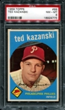 1959 Topps Baseball #99 Ted Kazanski PSA 8 (NM-MT) *4775