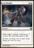 Magic the Gathering Theros Single Last Breath UNPLAYED