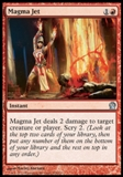Magic the Gathering Theros Single Magma Jet Foil UNPLAYED