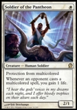 Magic the Gathering Theros Single Soldier of the Pantheon Foil UNPLAYED