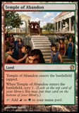 Magic the Gathering Theros Single Temple of Abandon Foil - NEAR MINT (NM)