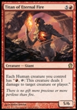 Magic the Gathering Theros Single Titan of Eternal Fire Foil - NEAR MINT (NM)