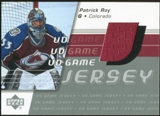 2002/03 Upper Deck Game Jersey Series II #GJPR Patrick Roy