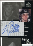 1999/00 Upper Deck SP Authentic Sign of the Times #LR Luc Robitaille Autograph