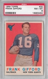 1959 Topps Football Frank Gifford PSA 8 (NM-MT) *3454