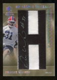 2007 Upper Deck SP Rookie Threads Rookie Lettermen Black #128 Dwayne Wright Autograph /25