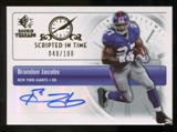 2007 Upper Deck SP Rookie Threads Scripted in Time Autographs #SITJB Brandon Jacobs Autograph /100