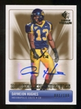 2007 Upper Deck SP Rookie Threads Rookie Exclusive Autographs #REDH Daymeion Hughes Autograph /100
