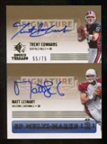 2007 Upper Deck SP Rookie Threads SP Multi Marks Autographs Dual #EL Matt Leinart/Trent Edwards Autograph /75