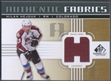 2011/12 SP Game Used #AFHE Milan Hejduk Authentic Fabrics Gold Jersey
