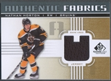 2011/12 SP Game Used #AFNH Nathan Horton Authentic Fabrics Gold Jersey