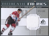 2011/12 SP Game Used #AFWG Wayne Gretzky Authentic Fabrics Jersey #071/100