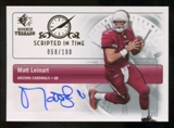 2007 Upper Deck SP Rookie Threads Scripted in Time Autographs #SITML Matt Leinart Autograph /100