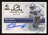 2007 Upper Deck SP Rookie Threads Scripted in Time Autographs #SITDP Drew Pearson Autograph /100