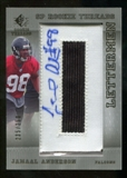 2007 Upper Deck SP Rookie Threads #120 Jamaal Anderson Autograph /250