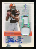 2007 Upper Deck SP Rookie Threads Rookie Threads Autographs Holofoil #RTBQ Brady Quinn Autograph 9/10