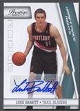 2010/11 Prestige #166 Luke Babbitt Rookie Draft Picks Rights Auto #122/199