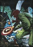 1992 Fleer Marvel Masterpieces Battle Spectra #5D Captain America vs. Red Skull