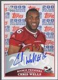 2009 Topps Rookie Premiere #CW Chris Wells Rookie Auto