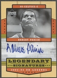 2003/04 Upper Deck Legends #RP Robert Parish Legendary Signatures Auto
