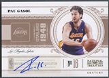 2010/11 Playoff National Treasures #46 Pau Gasol Century Signatures Auto #01/10