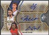 2009/10 SP Game Used #MTBMG Josh McRoberts Chris Bosh & Danilo Gallinari Multi Marks Triple Auto #35/50