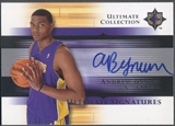 2005/06 Ultimate Collection #USAN Andrew Bynum Signatures Rookie Auto