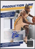 2010/11 Donruss #58 Darren Collison Production Line Jersey Auto #07/10