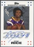 2007 Topps Rookie Premiere #SR Sidney Rice Rookie Auto