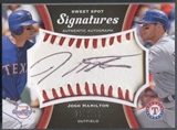 2008 Sweet Spot #JH Josh Hamilton Signatures Red Stitch Black Ink Auto #120/250