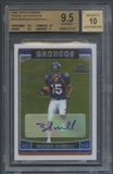 2006 Topps Chrome #263 Brandon Marshall Rookie Auto BGS 9.5
