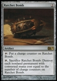 Magic the Gathering 2014 Single Ratchet Bomb Promo Foil UNPLAYED